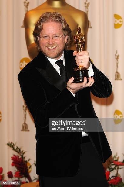 Andrew Stanton with the Best Animated Feature Film award received for WallE at the 81st Academy Awards at the Kodak Theatre Los Angeles