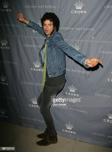 Andrew Stockdaleof Wolfmother poses at the after show party following the 'MTV Classic The Launch' music event at the Crown Metropol on April 28 2010...