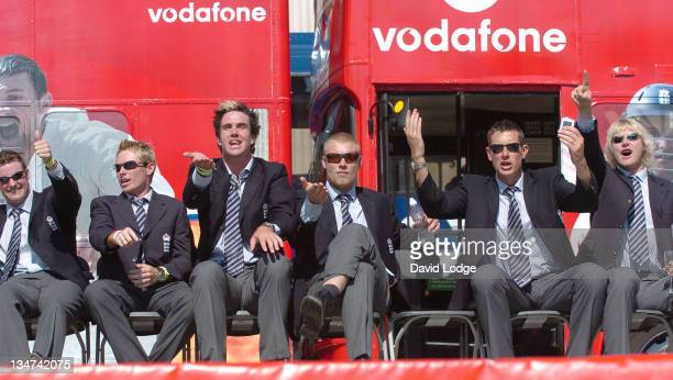 Andrew Strauss and Ian Bell and Kevin Pietersen and Andrew Flintoff and Ashley Giles and Matthew Hoggard