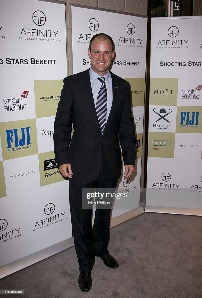 <a gi-track='captionPersonalityLinkClicked' href=/galleries/search?phrase=Andrew+Strauss&family=editorial&specificpeople=157548 ng-click='$event.stopPropagation()'>Andrew Strauss</a> attends the Affinity Real Estate Shooting Stars Benefit Welcome Pairing Dinner at Asprey, New Bond Street on June 13, 2013 in London, England.