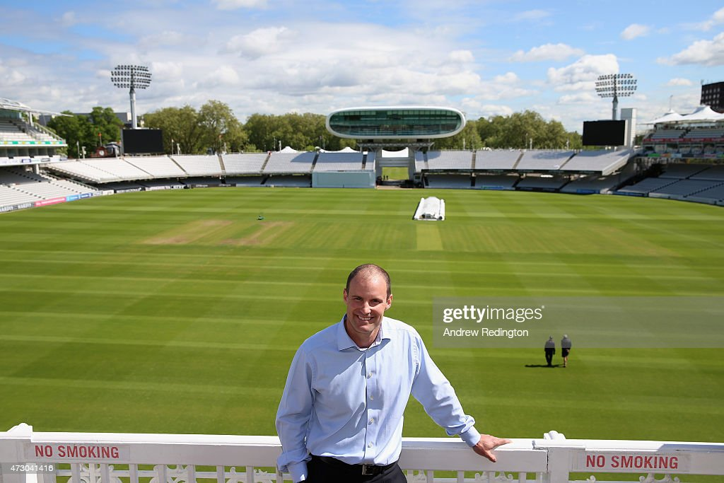 <a gi-track='captionPersonalityLinkClicked' href=/galleries/search?phrase=Andrew+Strauss&family=editorial&specificpeople=157548 ng-click='$event.stopPropagation()'>Andrew Strauss</a>, England's new Director Of Cricket, is pictured during an ECB media opportunity at Lords on May 12, 2015 in London, England.