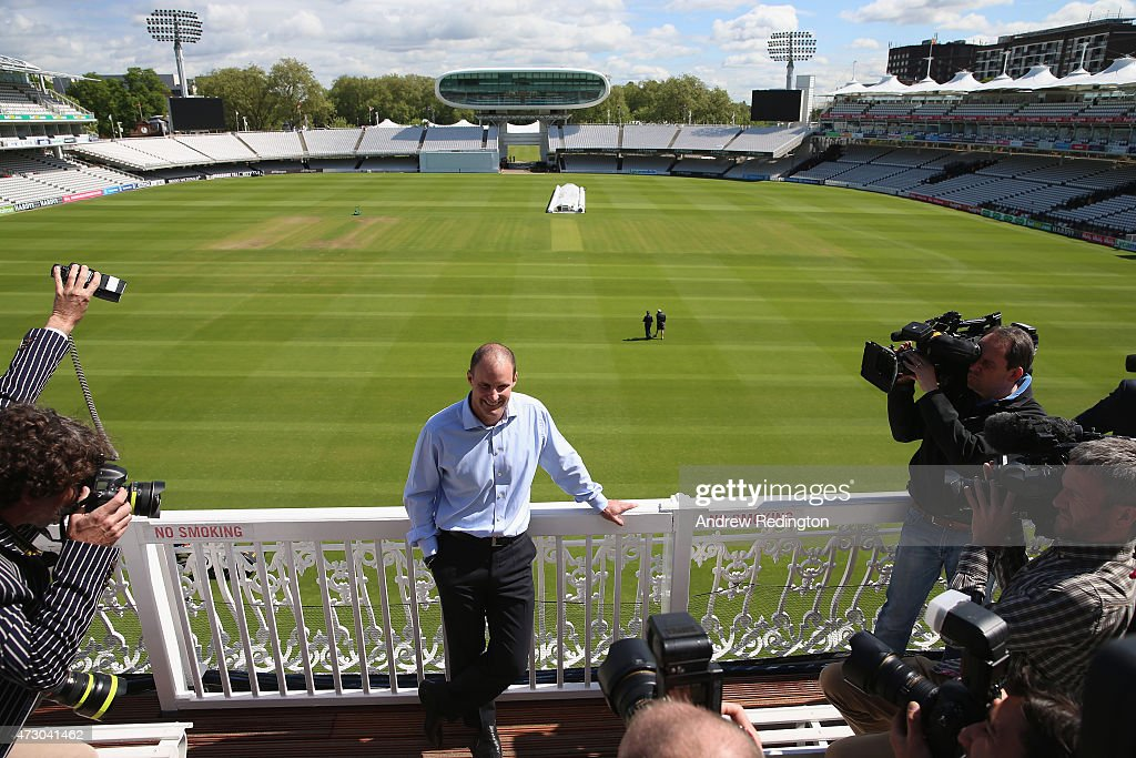 Andrew Strauss, England's new Director Of Cricket, is pictured during an ECB media opportunity at Lords on May 12, 2015 in London, England.