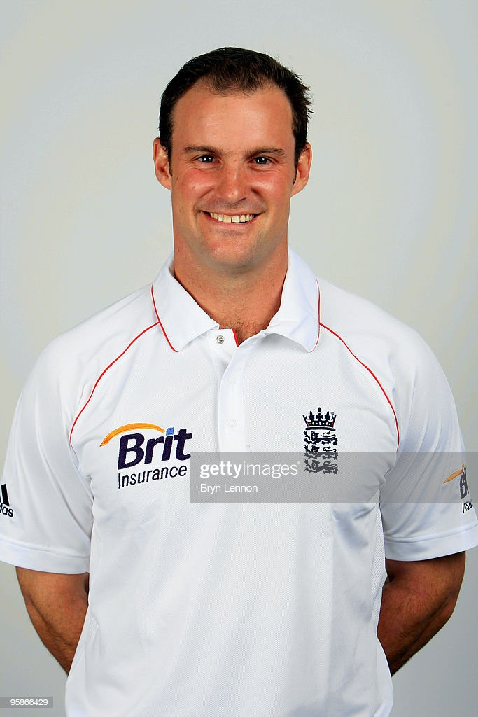 <a gi-track='captionPersonalityLinkClicked' href=/galleries/search?phrase=Andrew+Strauss&family=editorial&specificpeople=157548 ng-click='$event.stopPropagation()'>Andrew Strauss</a> of England poses for the team portraits at the ECB Centre at University on October 28, 2009 in Loughbrough,England.