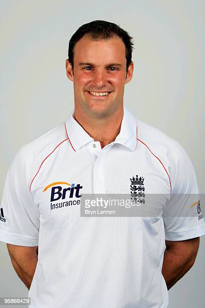 Andrew Strauss of England poses for the team portraits at the ECB Centre at University on October 28 2009 in LoughbroughEngland