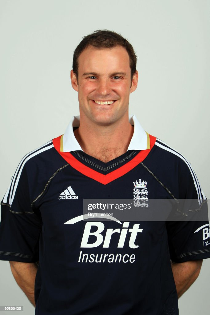 Andrew Strauss of England poses for the team portraits at the ECB Centre at University on October 28, 2009 in Loughbrough,England.
