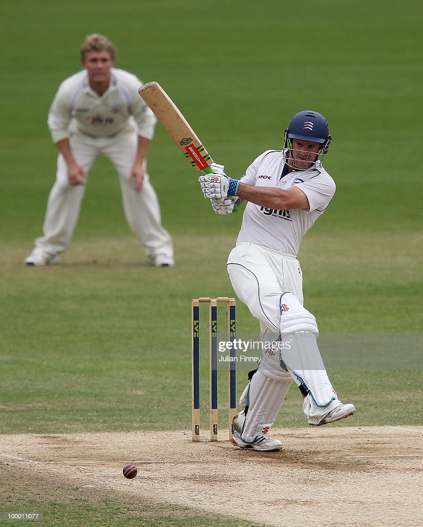 Andrew Strauss of Middlesex in action during day four of the LV= County Championship Division Two match between Surrey and Middlesex at The Brit Oval on May 20, 2010 in London, England.