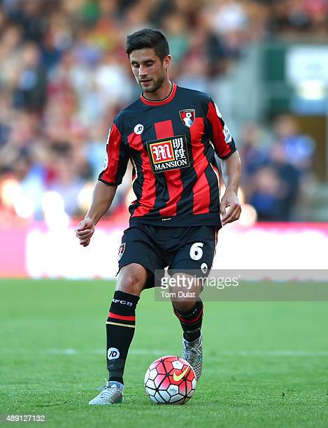 Andrew Surman of Bournemouth in action during the Premier League match between Bournemouth and Sunderland at the Vitality Stadium on September 19...