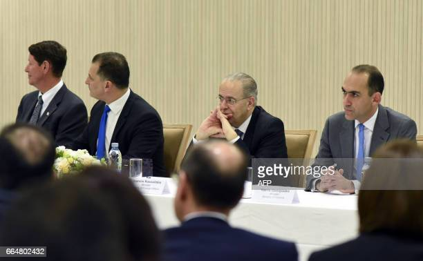 Andrew Swiger Senior Vice President of ExxonMobil Corporation Cypriot Energy Minister George Lakkotrypis Foreign Minister Ioannis Kasoulides and...