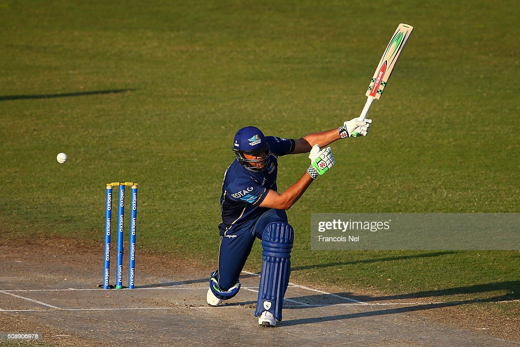 <a gi-track='captionPersonalityLinkClicked' href=/galleries/search?phrase=Andrew+Symonds&family=editorial&specificpeople=178235 ng-click='$event.stopPropagation()'>Andrew Symonds</a> of Capricorn bats during the Oxigen Masters Champions League match between Virgo Super Kings and Capricorn Commanders on February 7, 2016 in Sharjah, United Arab Emirates.
