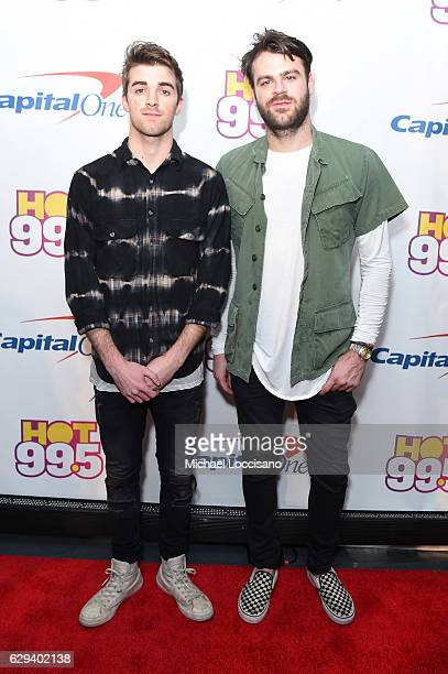 Andrew Taggart and Alex Pall of Chainsmokers attend Hot 995's Jingle Ball 2016 at Verizon Center on December 12 2016 in Washington DC