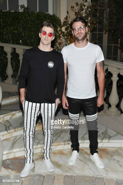 Andrew Taggart and Alex Pall of The Chainsmokers at BALMAIN celebrates first Los Angeles boutique opening and Beats by Dre collaboration on July 20...