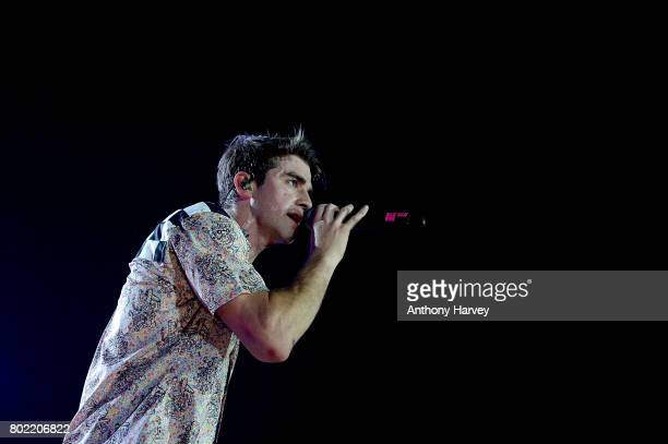 Alex Taggart of The Chainsmokers performs at the annual Isle of MTV Malta event at Il Fosos Square on June 27 2017 in Floriana Malta