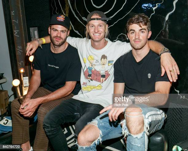Andrew Taggart Rory Kramer and Alex Pall attend MTV's Dare To Live Premiere Party at WNDO Space on August 29 2017 in Venice California