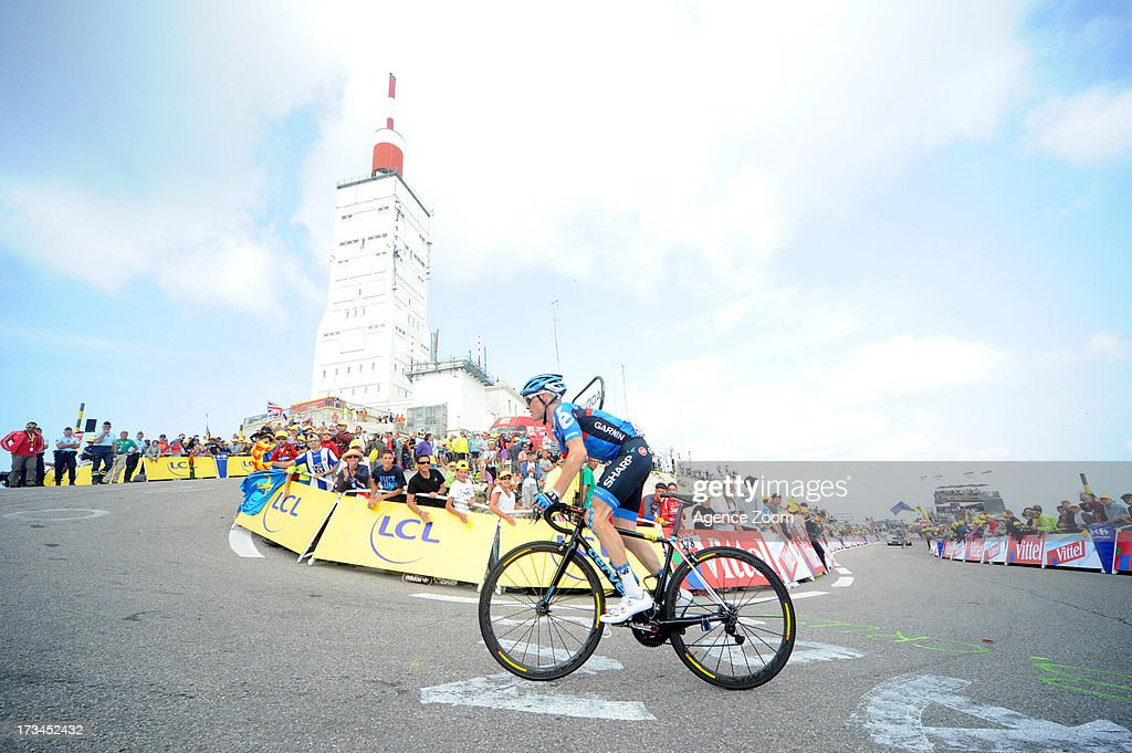 Andrew Talansky of Team Garmin-Sharp during Stage 15 of the Tour de France on Sunday 14 July, 2013, Givors to Mont Ventoux, France.