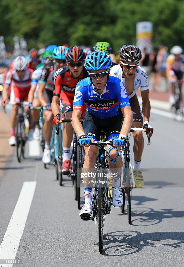 Andrew Talansky of the United States and Garmin Sharp in action during stage fourteen of the 2013 Tour de France, a 191KM road stage from Saint-Pourcain-sur-Sioule to Lyon, on July 13, 2013 in Lyon, France.
