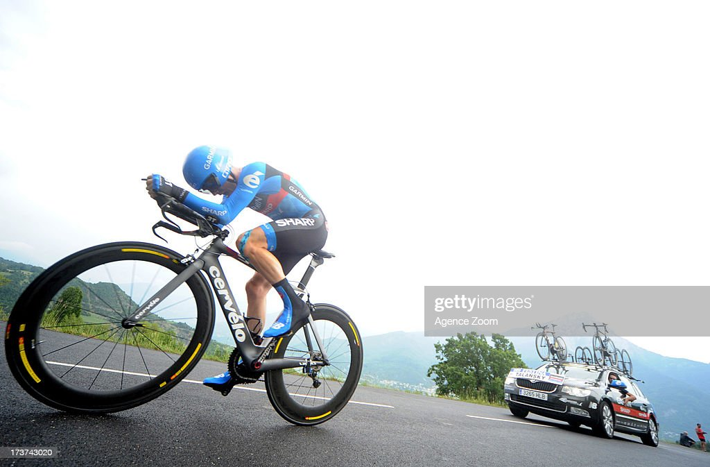 Andrew Talansky of the USA and Team Garmin-Sharp in action during stage seventeen of the 2013 Tour de France, a 32KM Individual Time Trial from Embrun to Chorges, on July 17, 2013 in Chorges, France.