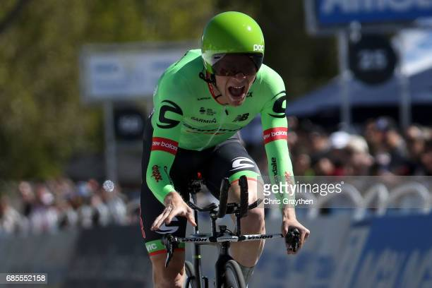 Andrew Talansky of United States riding for CannondaleDrapac Pro Cycling finishes stage five of the AMGEN Tour of California from Ontario to Mt Baldy...