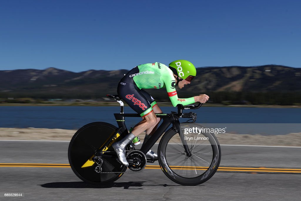 Andrew Talansky the USA and Cannondale-Drapac Pro Cycling in action during stage 6 of the AMGEN Tour of California, a 14.9 mile individual time trial around Big Bear Lake on May 19, 2017 in Big Bear Lake, California.