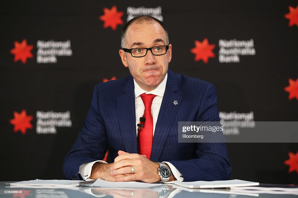 Andrew Thorburn, chief executive officer of National Australia Bank Ltd. (NAB), attends a news conference in Sydney, Australia, on Thursday, May 5, 2016. National Australia posted a 6.5 percent increase in first-half cash profit as it bucked a trend among Australia's largest lenders by decreasing bad-debt charges and as margins improved for the first time since 2011. Photographer: Brendon Thorne/Bloomberg via Getty Images