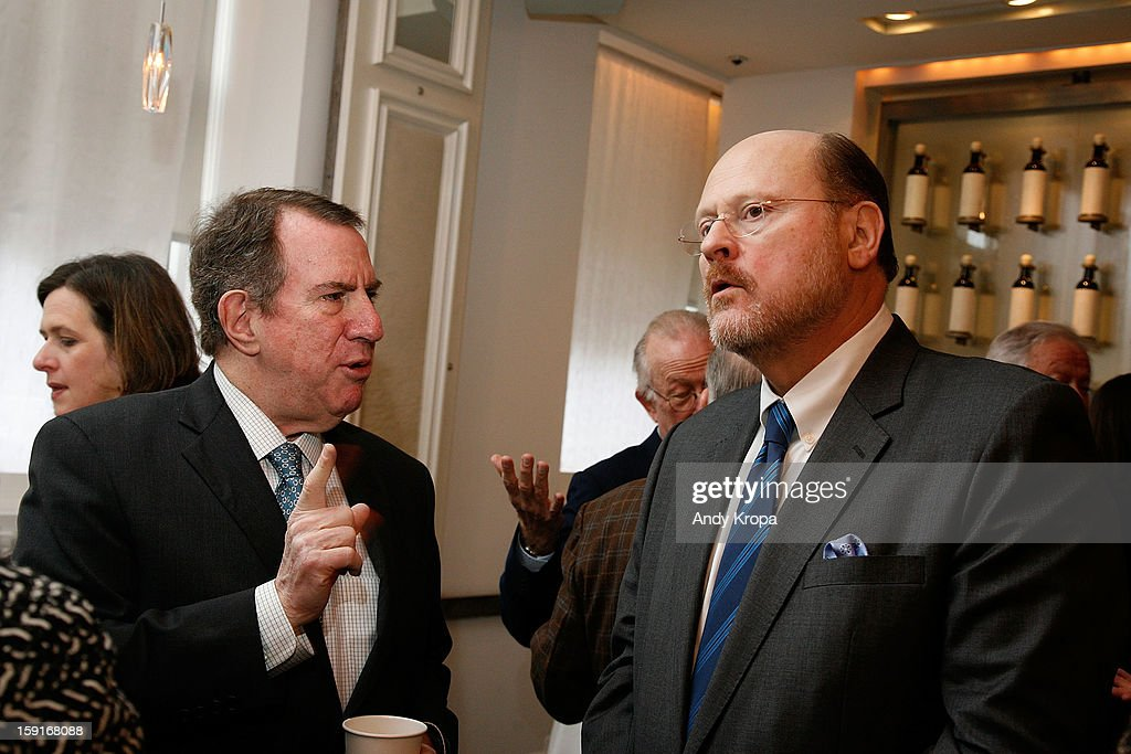 Andrew Tisch and Joe Lhota attend Loews Regency Hotel's Inaugural Power Breakfast at Park Avenue Winter on January 9, 2013 in New York City.