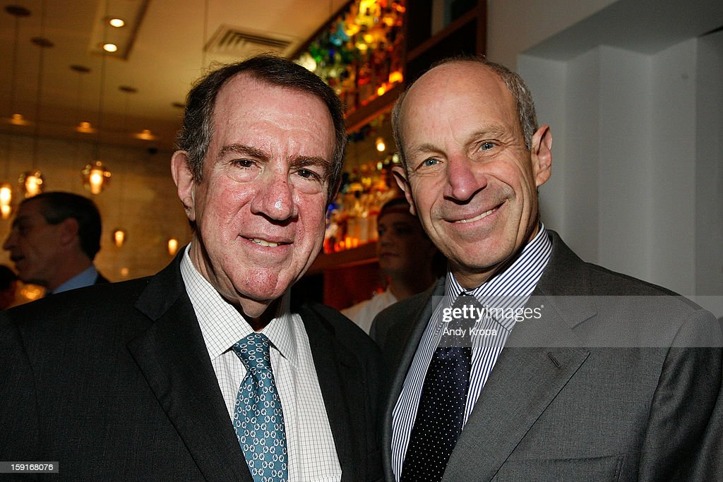 Andrew Tisch and Jonathan Tisch attend Loews Regency Hotel's Inaugural Power Breakfast at Park Avenue Winter on January 9, 2013 in New York City.