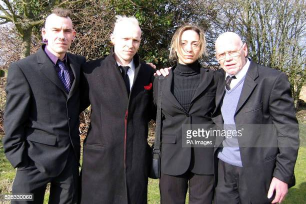 Andrew Tollon's family outside Bournemouth Crown Court Monday 20 February 2006 left to right his brothers Alan and Alex Tollon Debora Malvezzi his...