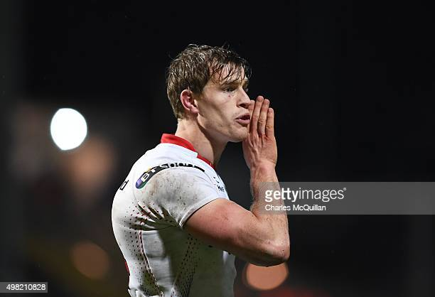 Andrew Trimble of Ulster during the European Champions Cup Pool 1 rugby game with Saracens at Kingspan Stadium on November 20 2015 in Belfast...