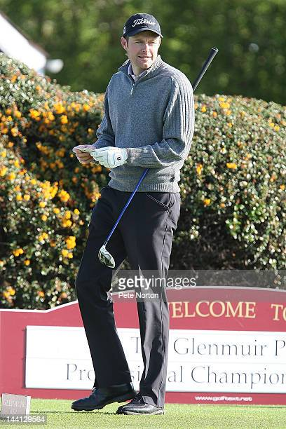 Andrew Turner of Knaresborough Golf Club prepares to tee off at the 1st during the Glenmuir PGA Professional Championship Regional Qualifier at...