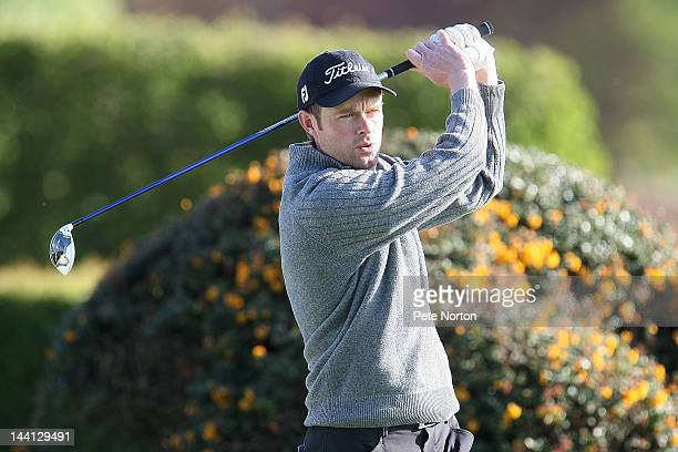 Andrew Turner of Knaresborough Golf Club tees off at the 1st during the Glenmuir PGA Professional Championship Regional Qualifier at Fulford Golf...