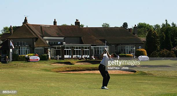 Andrew Turner of Knaresborough plays a shot from the 18th fairway during the Glenmuir PGA Professional Championship North East Regional Qualifier at...