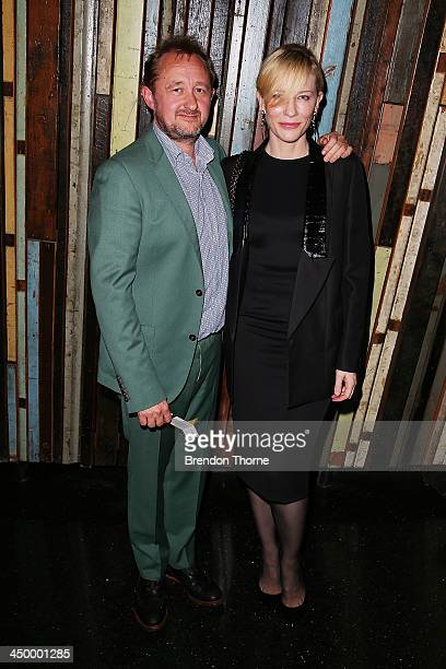 Andrew Upton and Cate Blanchett arrive at 'Waiting for Godot' opening night at the Sydney Theatre Company on November 16 2013 in Sydney Australia