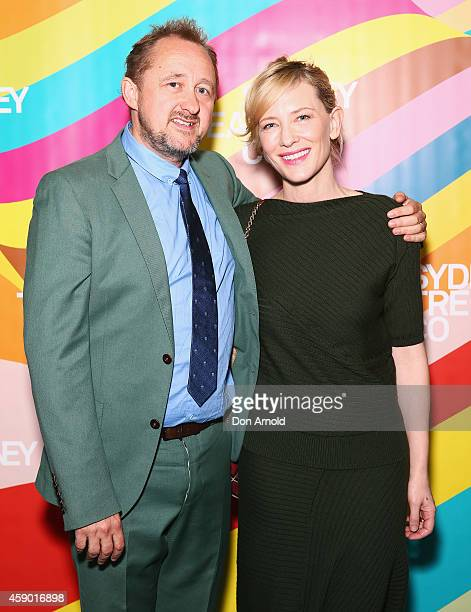 Andrew Upton and Cate Blanchett attend the opening night of Cyrano de Bergerac directed by Andrew Upton at Sydney Theatre Company on November 15 2014...