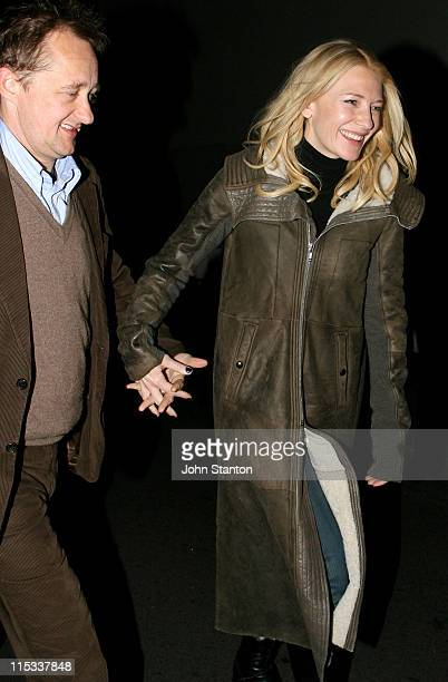 Andrew Upton and Cate Blanchett during Opening Night of 'Exit The King' Starring Geoffrey Rush in Sydney on June 132007 at Belvoir St Theatre in...