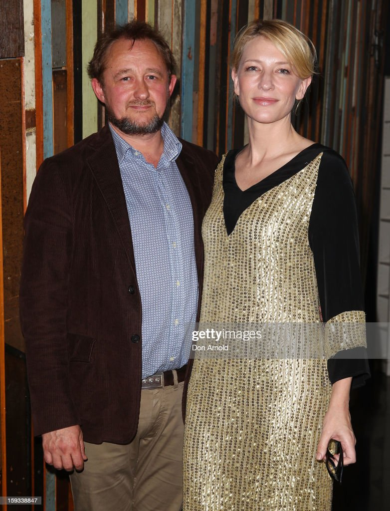 <a gi-track='captionPersonalityLinkClicked' href=/galleries/search?phrase=Andrew+Upton&family=editorial&specificpeople=213980 ng-click='$event.stopPropagation()'>Andrew Upton</a> and <a gi-track='captionPersonalityLinkClicked' href=/galleries/search?phrase=Cate+Blanchett&family=editorial&specificpeople=201621 ng-click='$event.stopPropagation()'>Cate Blanchett</a> pose at opening night of 'The Secret River' at the Sydney Theatre Company on January 12, 2013 in Sydney, Australia.