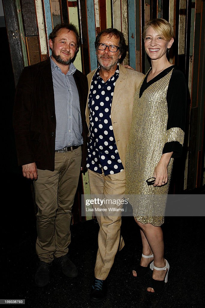 Andrew Upton, Neil Armfield and Cate Blanchette attend the opening night of 'The Secret River' at the Sydney Theatre Company on January 12, 2013 in Sydney, Australia.