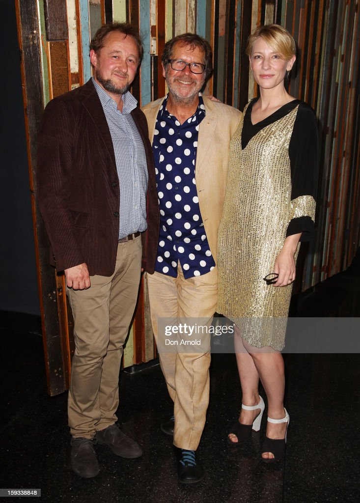 <a gi-track='captionPersonalityLinkClicked' href=/galleries/search?phrase=Andrew+Upton&family=editorial&specificpeople=213980 ng-click='$event.stopPropagation()'>Andrew Upton</a>, <a gi-track='captionPersonalityLinkClicked' href=/galleries/search?phrase=Neil+Armfield&family=editorial&specificpeople=769629 ng-click='$event.stopPropagation()'>Neil Armfield</a> and <a gi-track='captionPersonalityLinkClicked' href=/galleries/search?phrase=Cate+Blanchett&family=editorial&specificpeople=201621 ng-click='$event.stopPropagation()'>Cate Blanchett</a> pose at the opening night of 'The Secret River' at the Sydney Theatre Company on January 12, 2013 in Sydney, Australia.