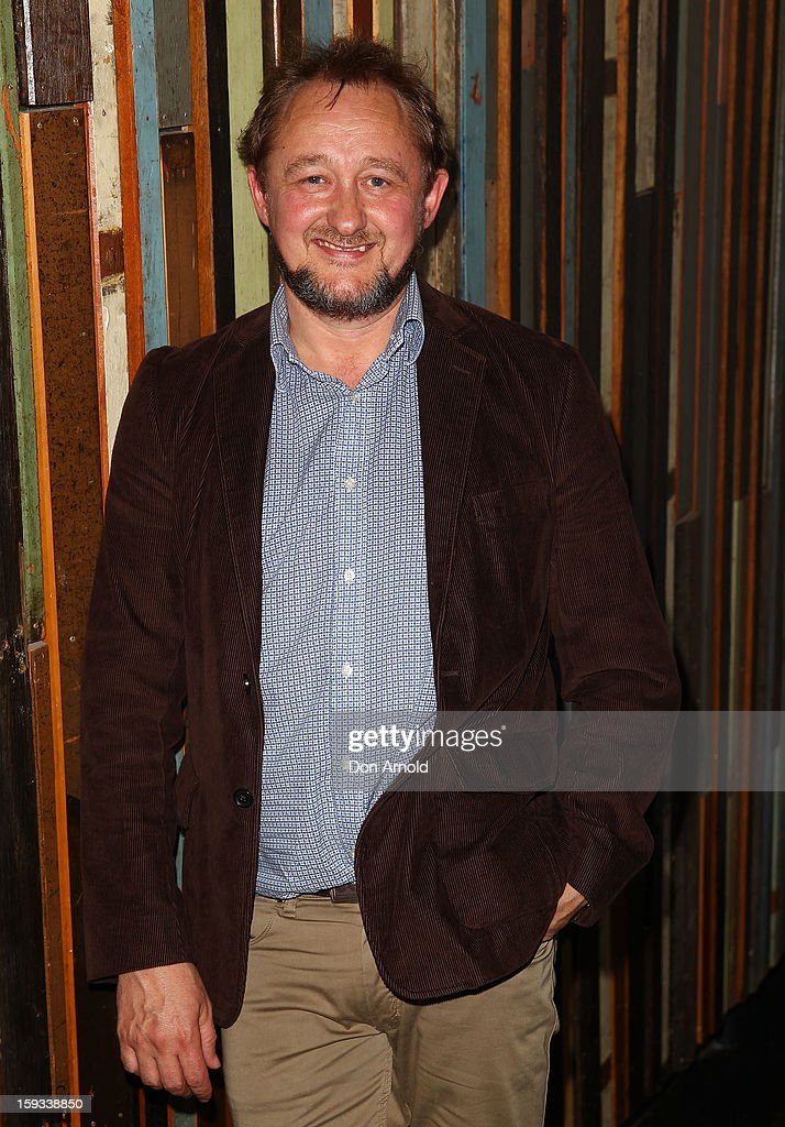 <a gi-track='captionPersonalityLinkClicked' href=/galleries/search?phrase=Andrew+Upton&family=editorial&specificpeople=213980 ng-click='$event.stopPropagation()'>Andrew Upton</a> poses at the opening night of 'The Secret River' at the Sydney Theatre Company on January 12, 2013 in Sydney, Australia.