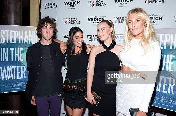 Andrew VanWyngarden Arden Wohl Ava Warbrick and Stephanie Gilmore attend the 'Stephanie In The Water' New York Premiere at Tribeca Cinemas on August...