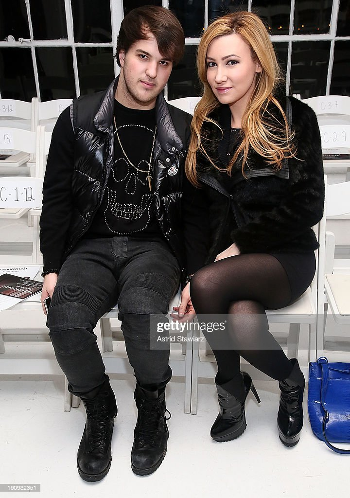 Andrew Warren and Devorah Rose attend the Ivana Helsinki fall 2013 fashion show during Mercedes-Benz Fashion Week at Studio 450 on February 7, 2013 in New York City.