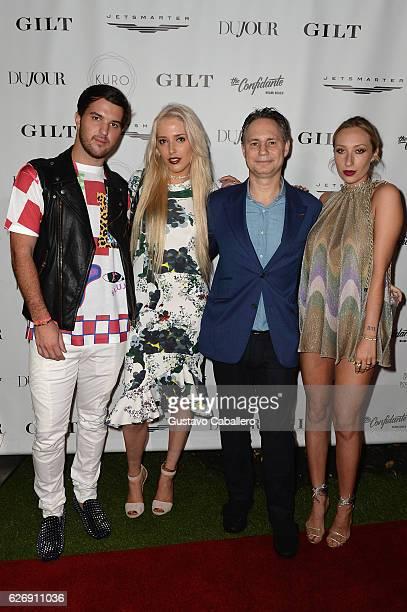 Andrew Warren Karen Shiboleth DuJour founder Jason Binn and Gaia Matisse attend the DuJour Media Gilt JetSmarter party to kick off Art Basel at The...