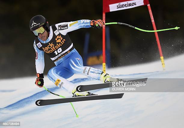 US Andrew Weibrecht competes during the mens Super G at the FIS Alpine Skiing World Cup in Val Gardena on December 20 2014 AFP PHOTO / OLVIER MORIN