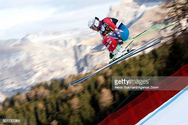 Andrew Weibrecht of the USA competes during the Audi FIS Alpine Ski World Cup Men's Downhill Training on December 17 2015 in Val Gardena Italy