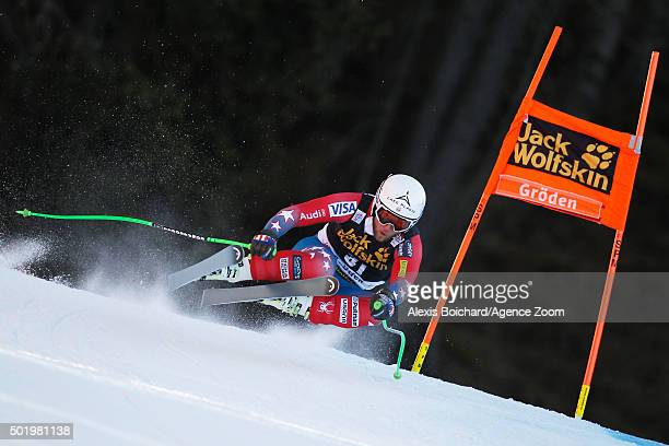 Andrew Weibrecht of the USA competes during the Audi FIS Alpine Ski World Cup Men's Downhill on December 19 2015 in Val Gardena Italy