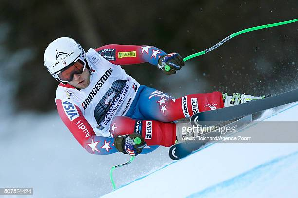 Andrew Weibrecht of the USA competes during the Audi FIS Alpine Ski World Cup Men's Downhill on January 30 2016 in GarmischPartenkirchen Germany