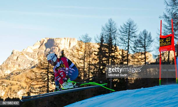 Andrew Weibrecht of The USA during the downhill race at the Audi FIS Alpine Ski World Cup on December 19 2015 in Val Gardena Italy