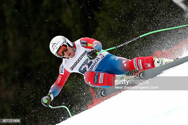 Andrew Weibrecht of the USA in action during the Audi FIS Alpine Ski World Cup Men's Downhill Training on January 28 2016 in GarmischPartenkirchen...
