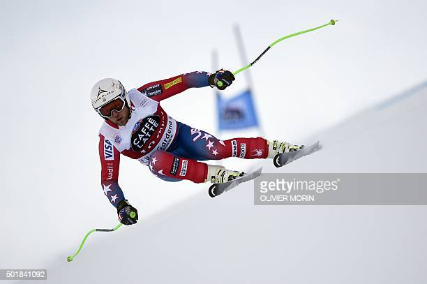 Andrew Weibrecht of USA competes in the FIS Alpine Skiing World Cup Men's Super G on December 18 2015 in Val Gardena northern Italy AFP PHOTO /...