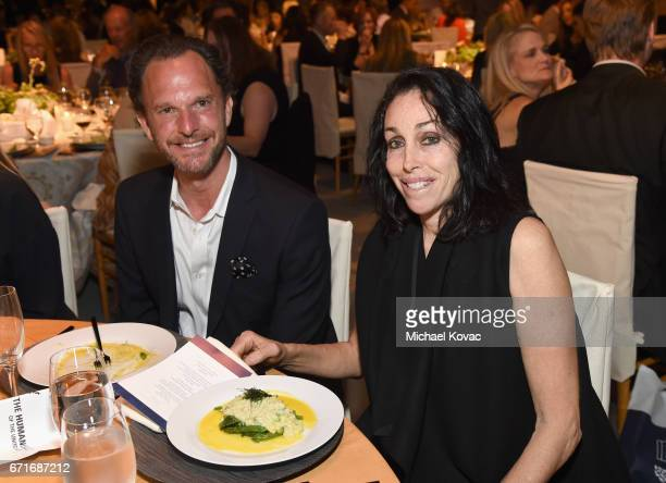 Andrew Weinstein and Heidi Fleiss at The Humane Society of the United States' To the Rescue Los Angeles Gala at Paramount Studios on April 22 2017 in...