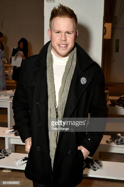 Andrew Wener attends the Vivienne Hu collection during New York Fashion Week The Shows at Gallery 2 Skylight Clarkson Sq on February 12 2017 in New...