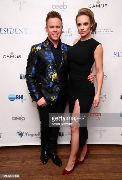 Andrew Werner and actress Danielle Savre attend the 'Resident Magazine' March issue cover celebration held at Bagatelle on March 22 2017 in New York...